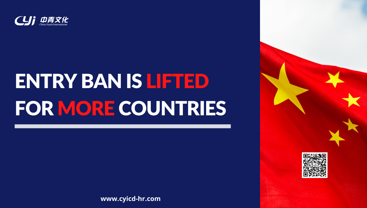 China lifts the ban & reopens borders for those holding valid..
